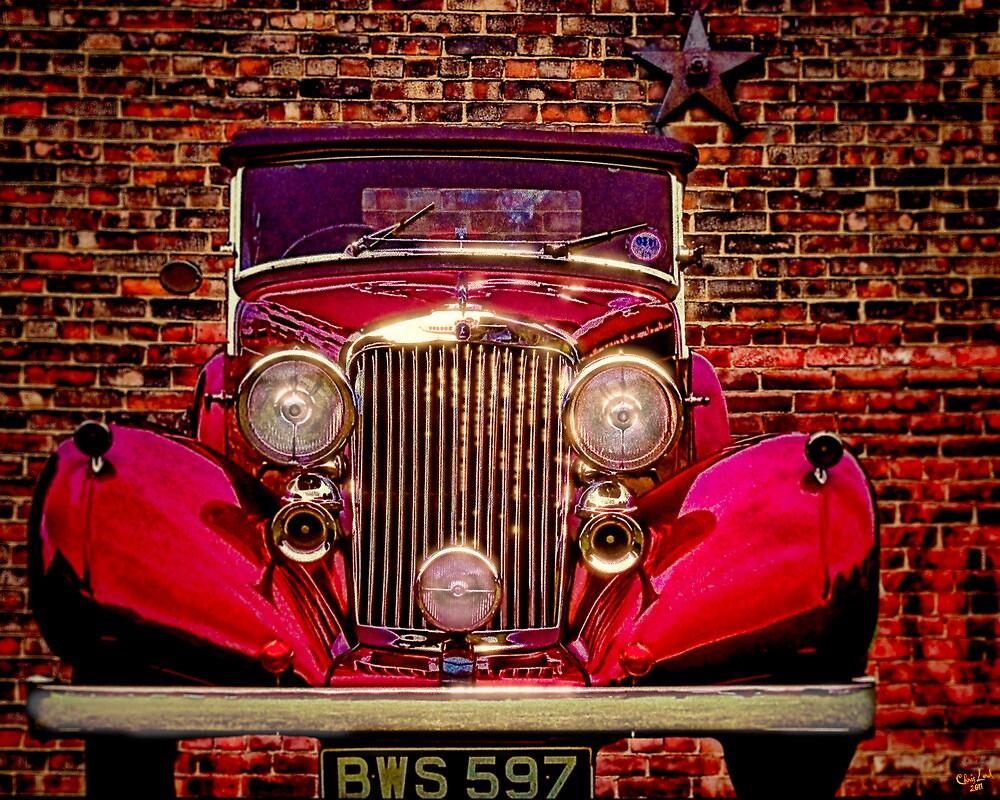 Vintage 1945 Red Bentley by Chris Lord