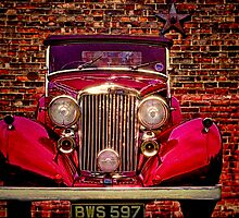 Vintage 1945 Red Bentley by Chris Lord