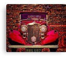 Vintage 1945 Red Bentley Canvas Print