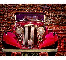 Vintage 1945 Red Bentley Photographic Print