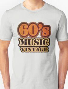 60's Music Vintage T-Shirt Unisex T-Shirt