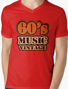 60's Music Vintage T-Shirt Mens V-Neck T-Shirt