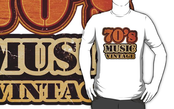 70's Music Vintage T-Shirt by Nhan Ngo