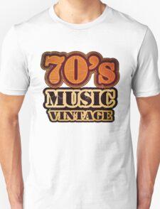 70's Music Vintage T-Shirt T-Shirt