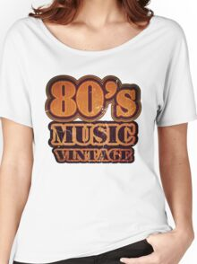 80's Music Vintage T-Shirt Women's Relaxed Fit T-Shirt