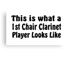 Clarinet Canvas Print