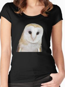Barn owl Women's Fitted Scoop T-Shirt