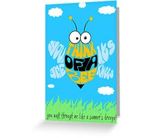 Think of a bee... Greeting Card