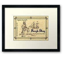 Pyrattica! 'Captain Longshaft's Rough Shag' Tobacco Label Framed Print
