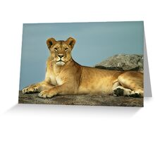 The Queen of Beasts Greeting Card