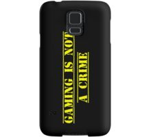 Gaming Is Not A Crime Samsung Galaxy Case/Skin