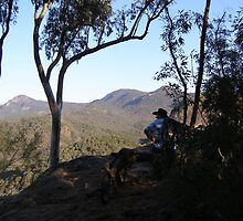 Admiring the View, Warrumbungles Nat.Park, N.S.W. by Rita Blom