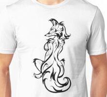 Tribal Fox Woman BW Unisex T-Shirt