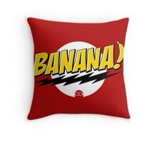 Banana Big Bang Theory Throw Pillow