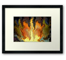 bonfire -- abstract series Framed Print