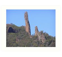 'THE BREAD KNIFE'! part of the High Tops,Warrumbungle N.P. N.S.W. Art Print