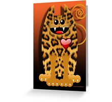 LOVELY LEOPARD (card) Greeting Card