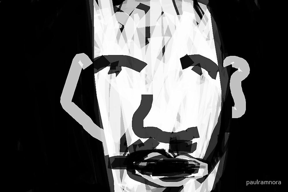 self-portrait -(160212)- digital artwork/ms paint by paulramnora