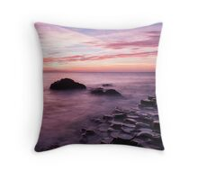 Giant's Causeway in Pink Throw Pillow