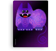 PAISLEY CAT  (card) Canvas Print