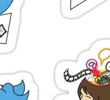Send Your Tweets away! Sticker
