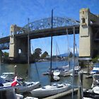 The Burrard Bridge Over False Creek by Tom  Reynen