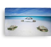 Remains of the old Robs Jetty, Western Australia Canvas Print