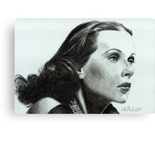 Hedy Lamarr - star from the Golden Age of Hollywood Canvas Print