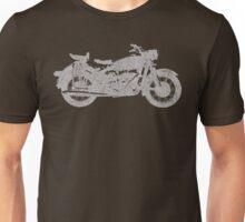 Vintage Motorcycle White Unisex T-Shirt