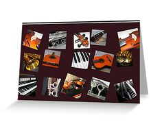 The Crazy Music Collage Greeting Card