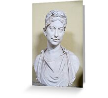 bust of woman Greeting Card
