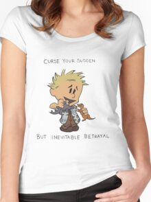 Calvin Hobbes Curse Your Sudden Women's Fitted Scoop T-Shirt