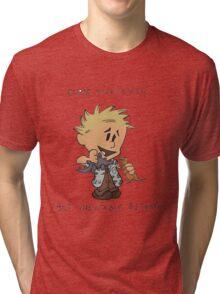 Calvin Hobbes Curse Your Sudden Tri-blend T-Shirt