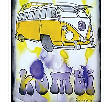 Yellow Tie Dyed Kombi by c y