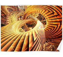 Abstract that Twisted Escher Fx Poster