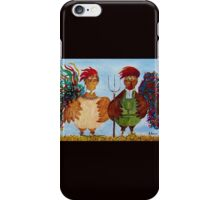 American Gothic Roosters Down on the Farm iPhone Case/Skin