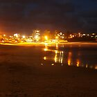 kings beach after dark  by warren dacey