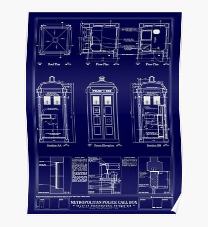 Doctor who TARDIS design  Poster
