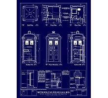 Doctor who TARDIS design  Photographic Print