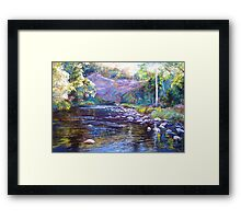 Rocks & Ripples - Howqua River Framed Print
