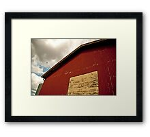 The Red Shearing Shed Framed Print