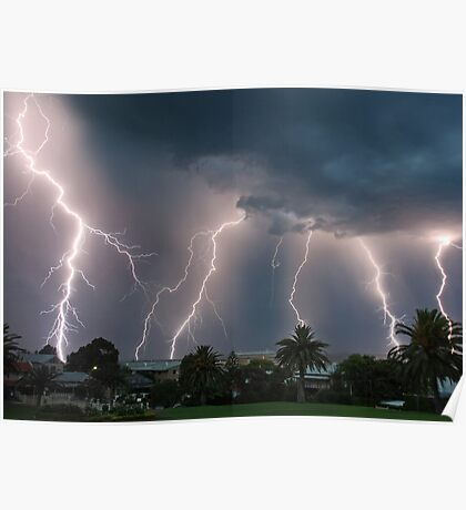 Natures power over Fremantle Poster