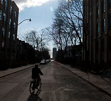 Morning Bike Ride And Sun on Crawford Street by Gary Chapple