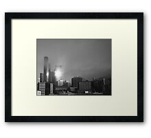 The reflection... Framed Print