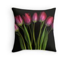 Seven Tulips Throw Pillow