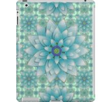 Embroidered blue & green iPad Case/Skin