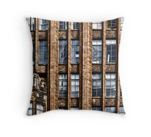 The Old Office Building Throw Pillow