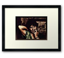 Stephy With A Cigarette Framed Print