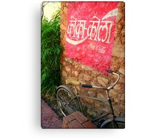 Hindi Coca-cola Ad Painted On Wall Canvas Print
