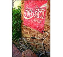 Hindi Coca-cola Ad Painted On Wall Photographic Print